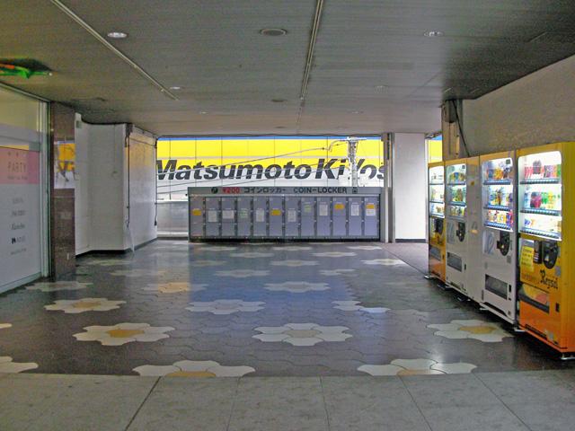 柏の商業施設に設置されたコインロッカー