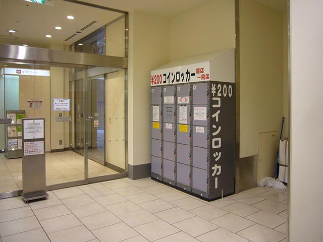 北千住の商業施設1Fに設置されたコインロッカー