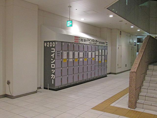錦糸町のアミューズメント施設に設置されたコインロッカー