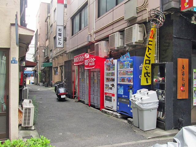 神田駅前の杉本第一ビルのフジコインロッカー
