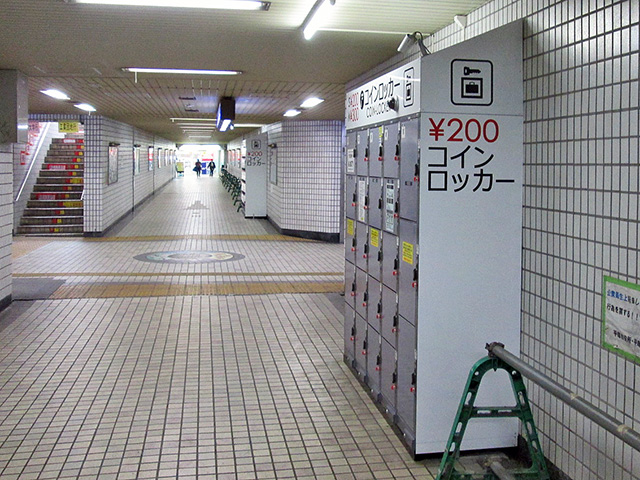 平塚駅前広場地下道のフジコインロッカー
