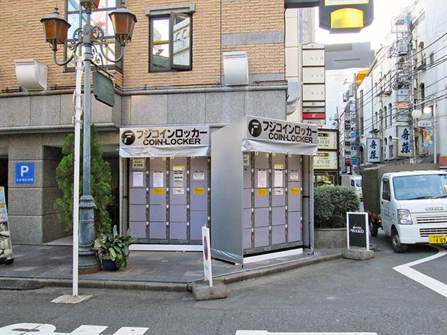 歌舞伎町のホテル外のフジコインロッカー